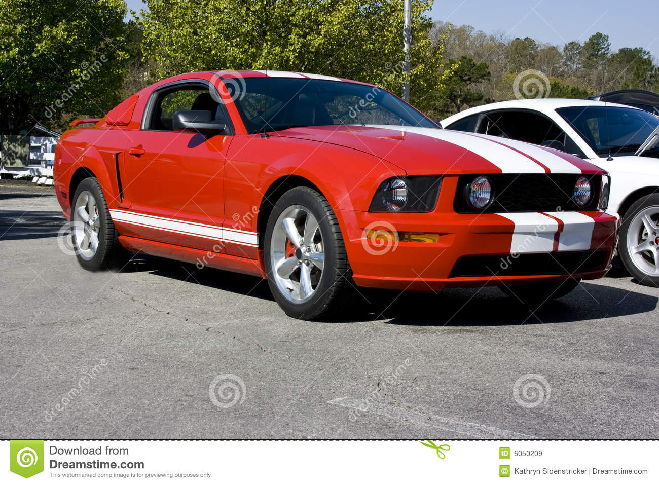 2008 Ford Mustang Gt Red Stock Image Image Of Auto