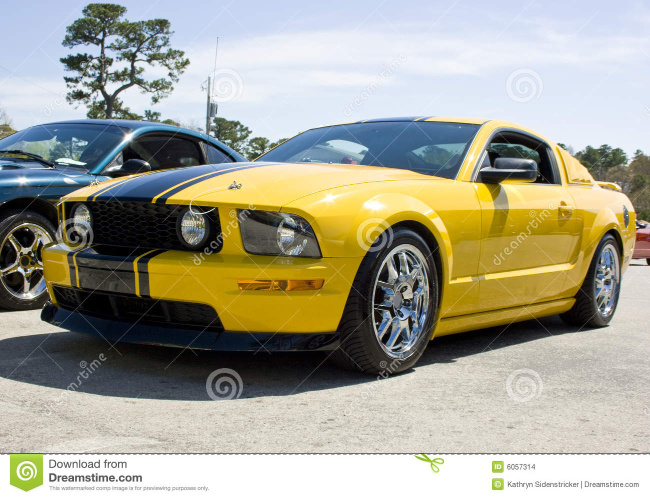 2008 ford mustang gt yellow