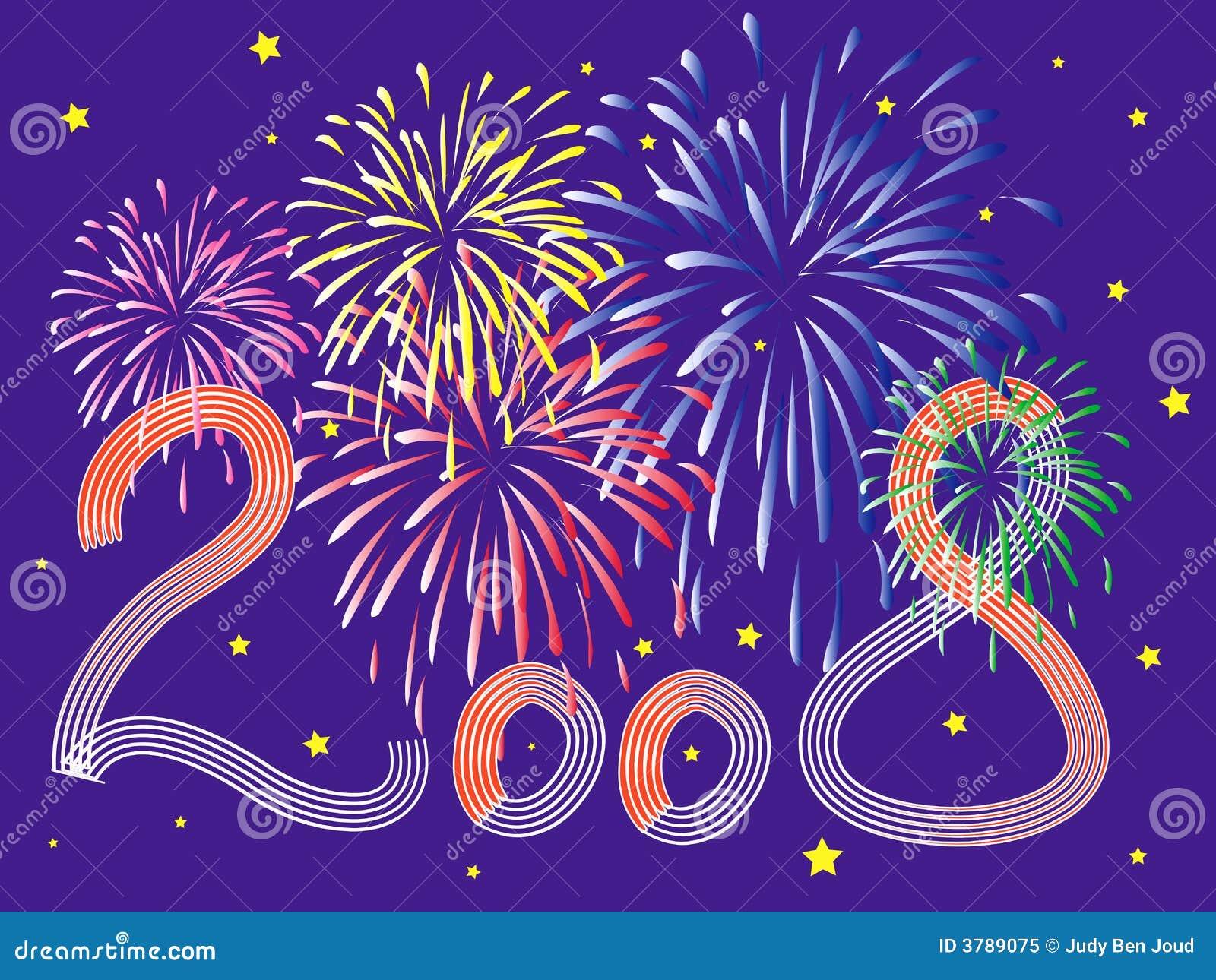 2008 obchodów nowego roku fierworks