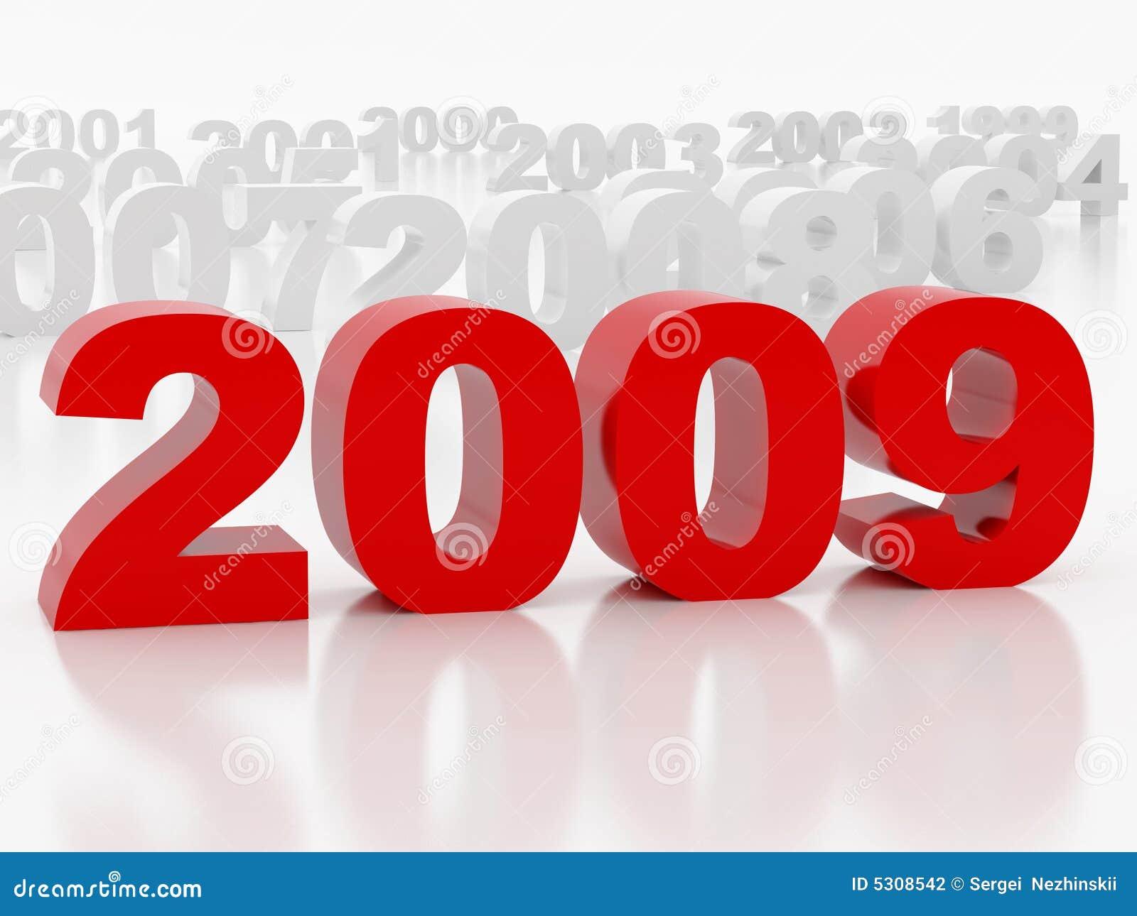 Download 2009 anni illustrazione di stock. Illustrazione di riflessione - 5308542