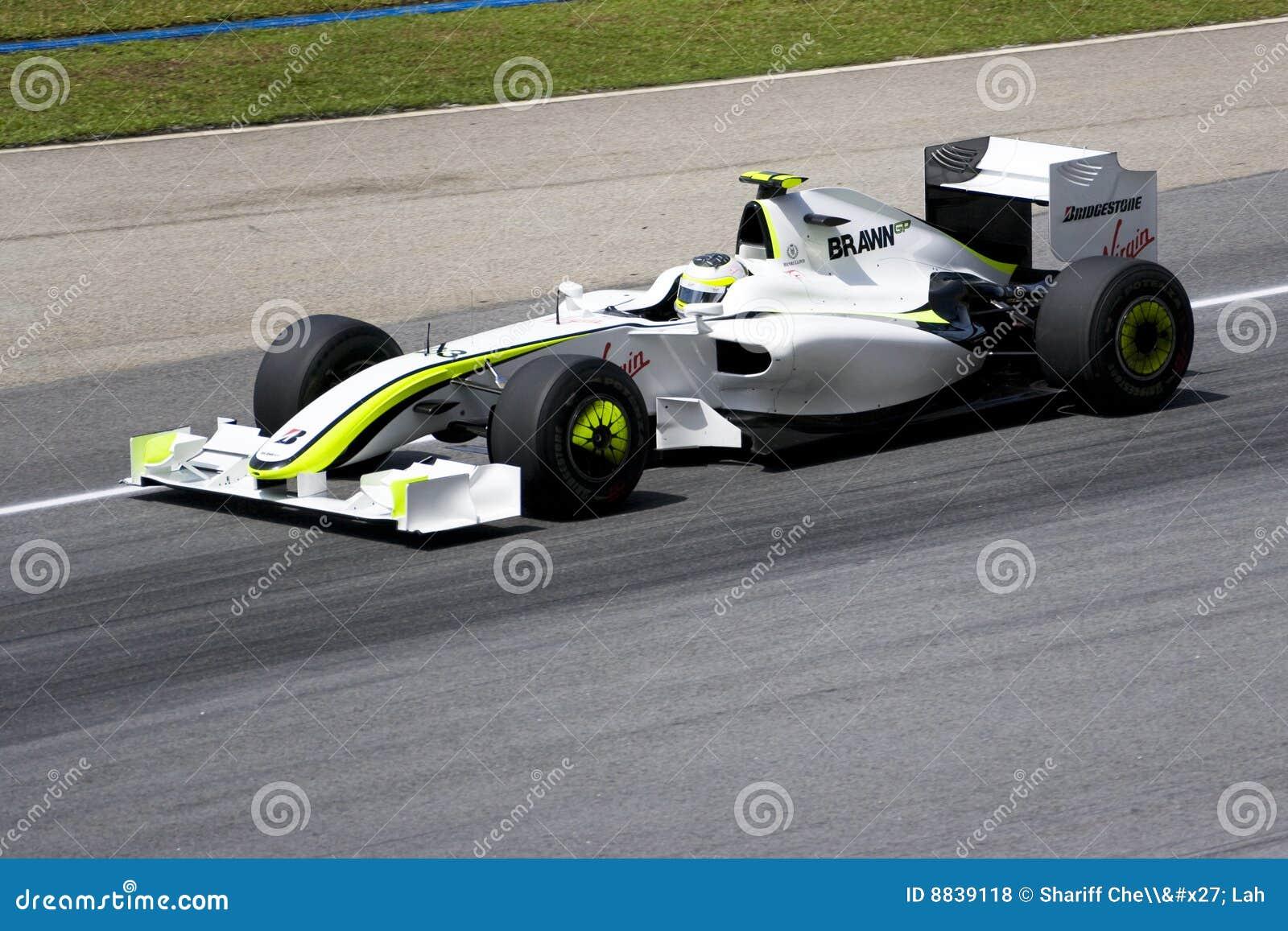 2009 barrichello brawn f1 gp bieżni rubens
