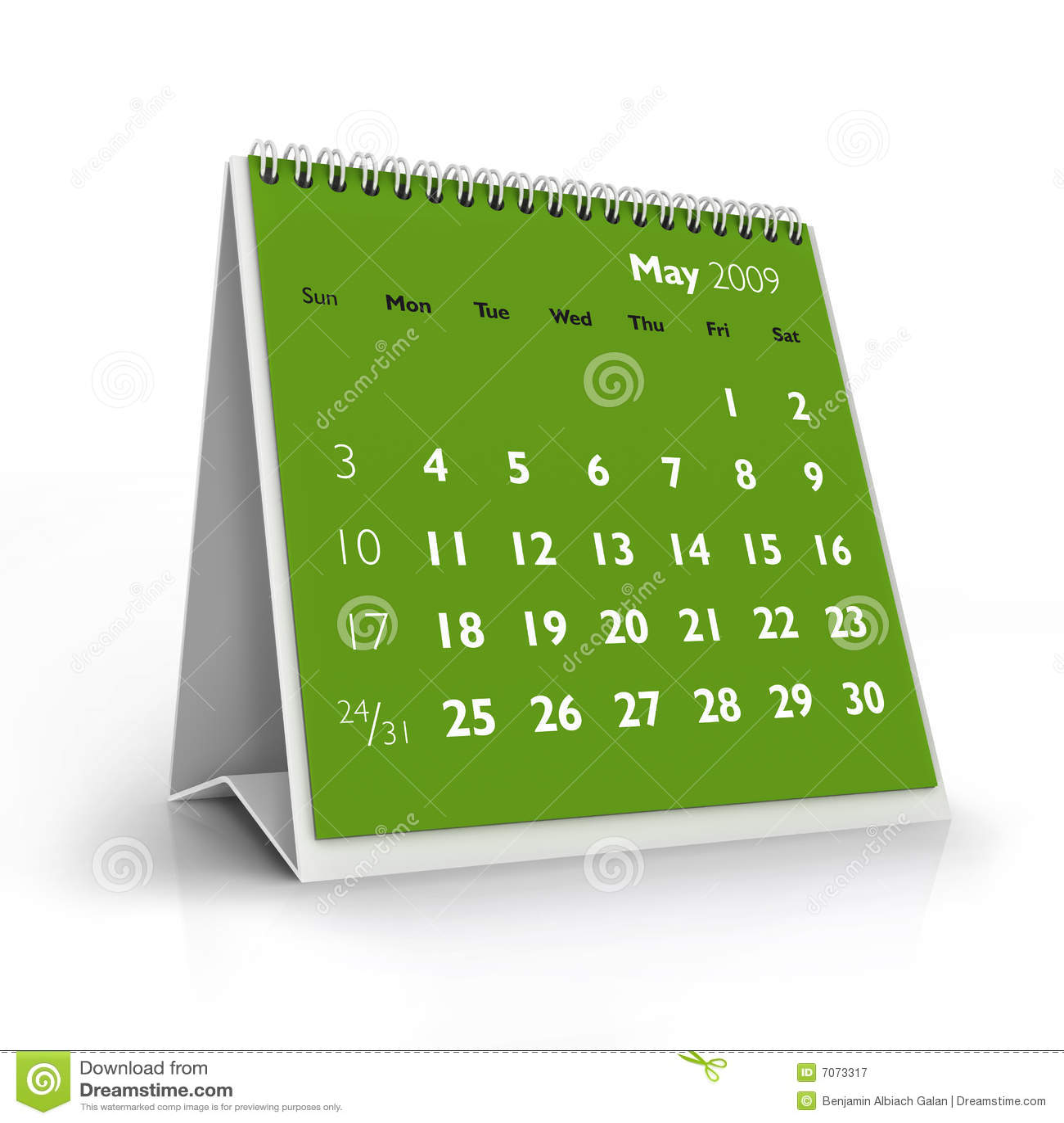 2009 Calendar May Stock Illustration Illustration Of Spring 7073317