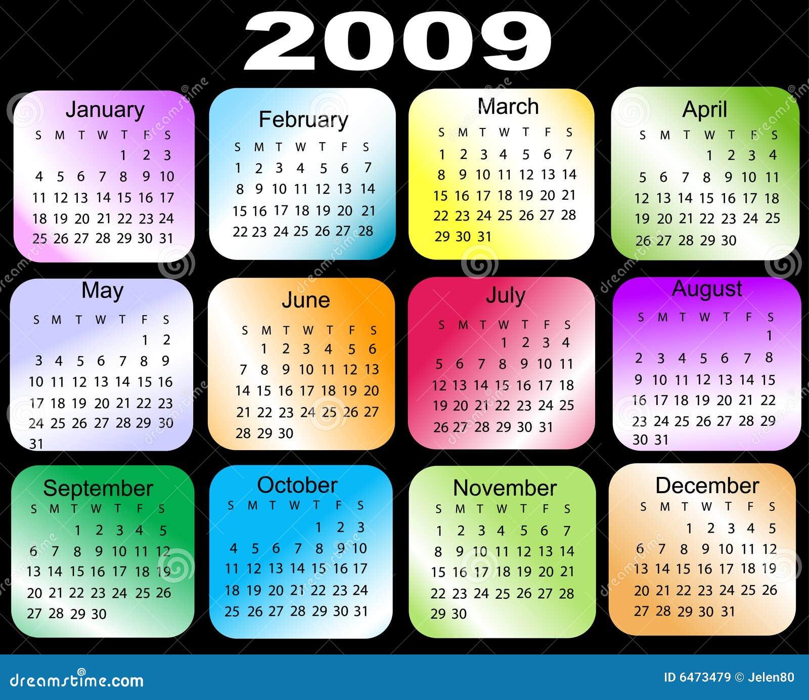 2009 kalendarz