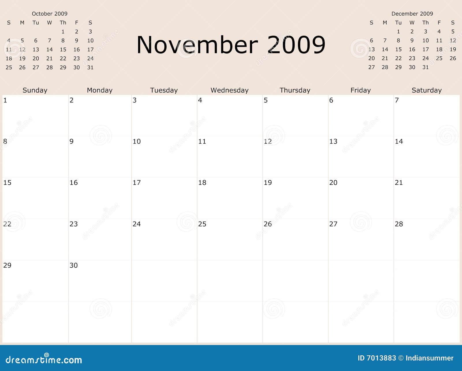 2009 year monthly calendar stock illustration. Illustration of.