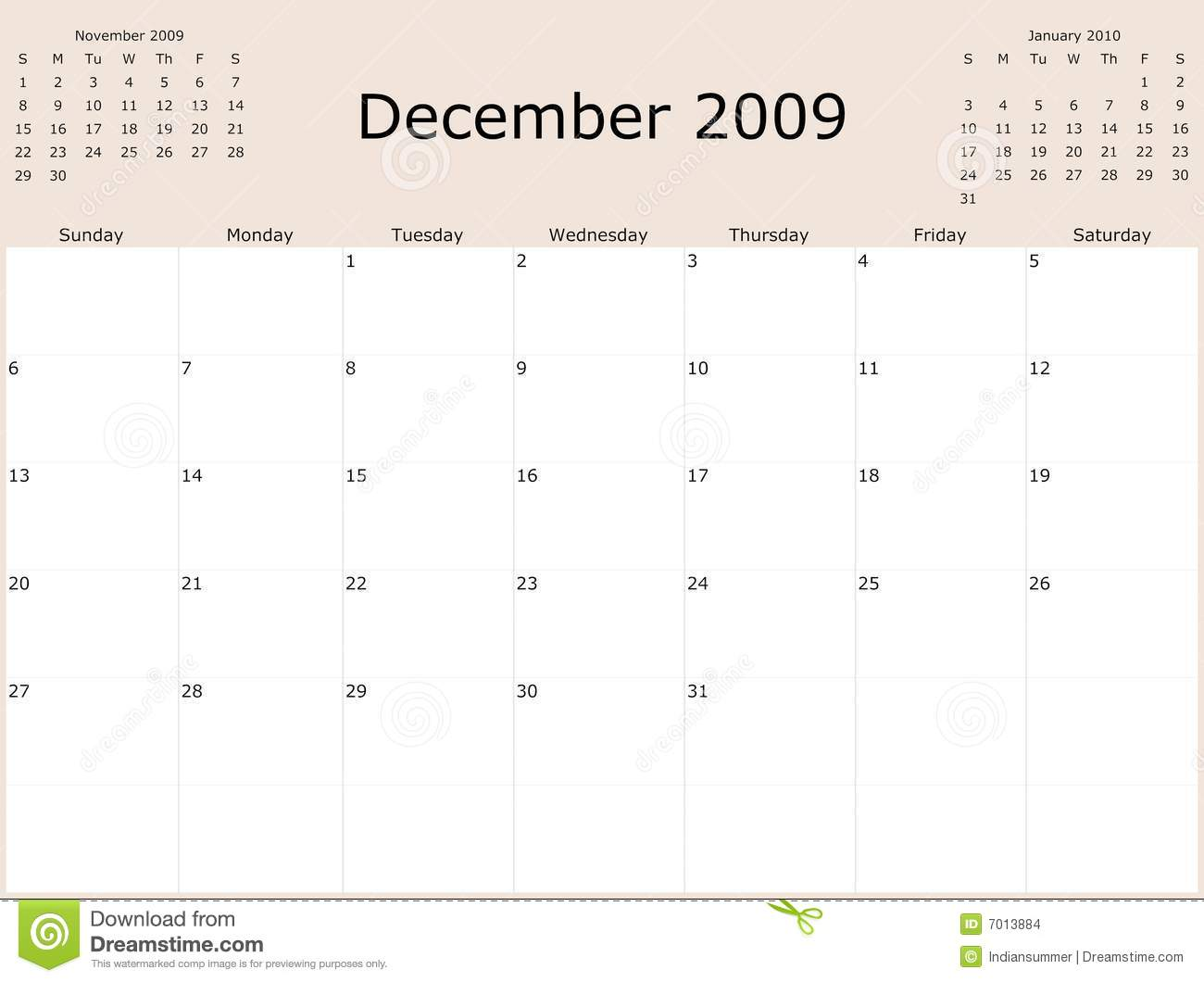Calendar 2009 stock image. Image of frame, diary, monthly 7336209.