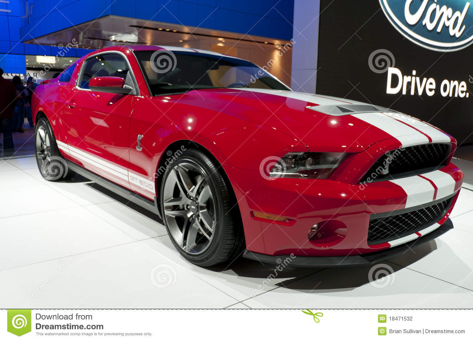 2010年眼镜蛇shelby Ford Mustang的naias