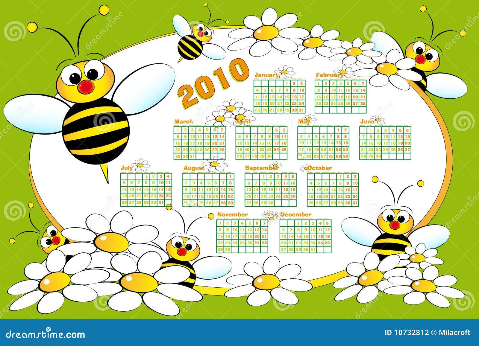 2010 пчел calendar малыш