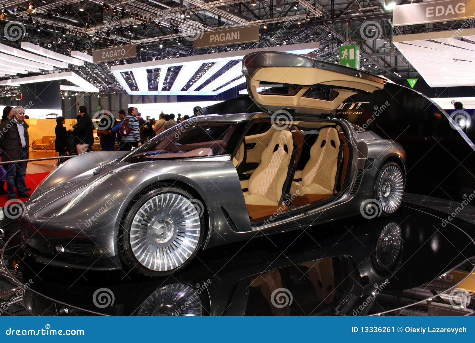 2010 elektrycznych Geneva motorowych nlv quant przedstawienie słonecznych