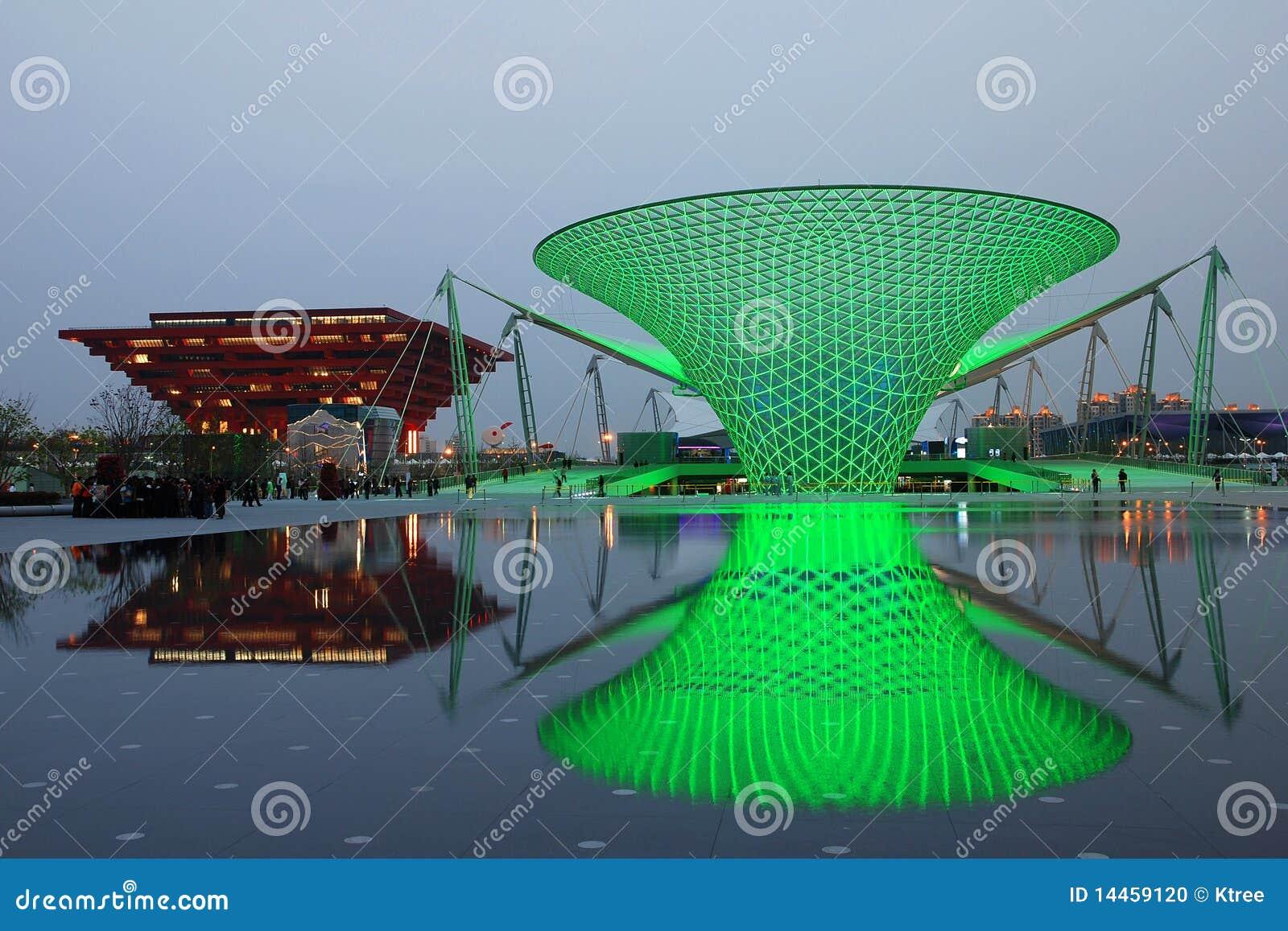 2010 expo zielone Shanghai słońca doliny