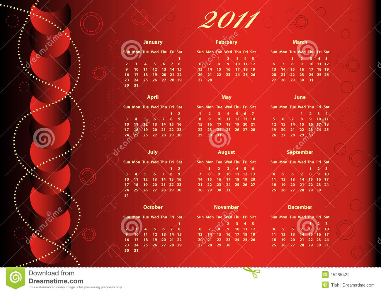 2011 Calendar Full Year Stock Photography - Image: 15265422