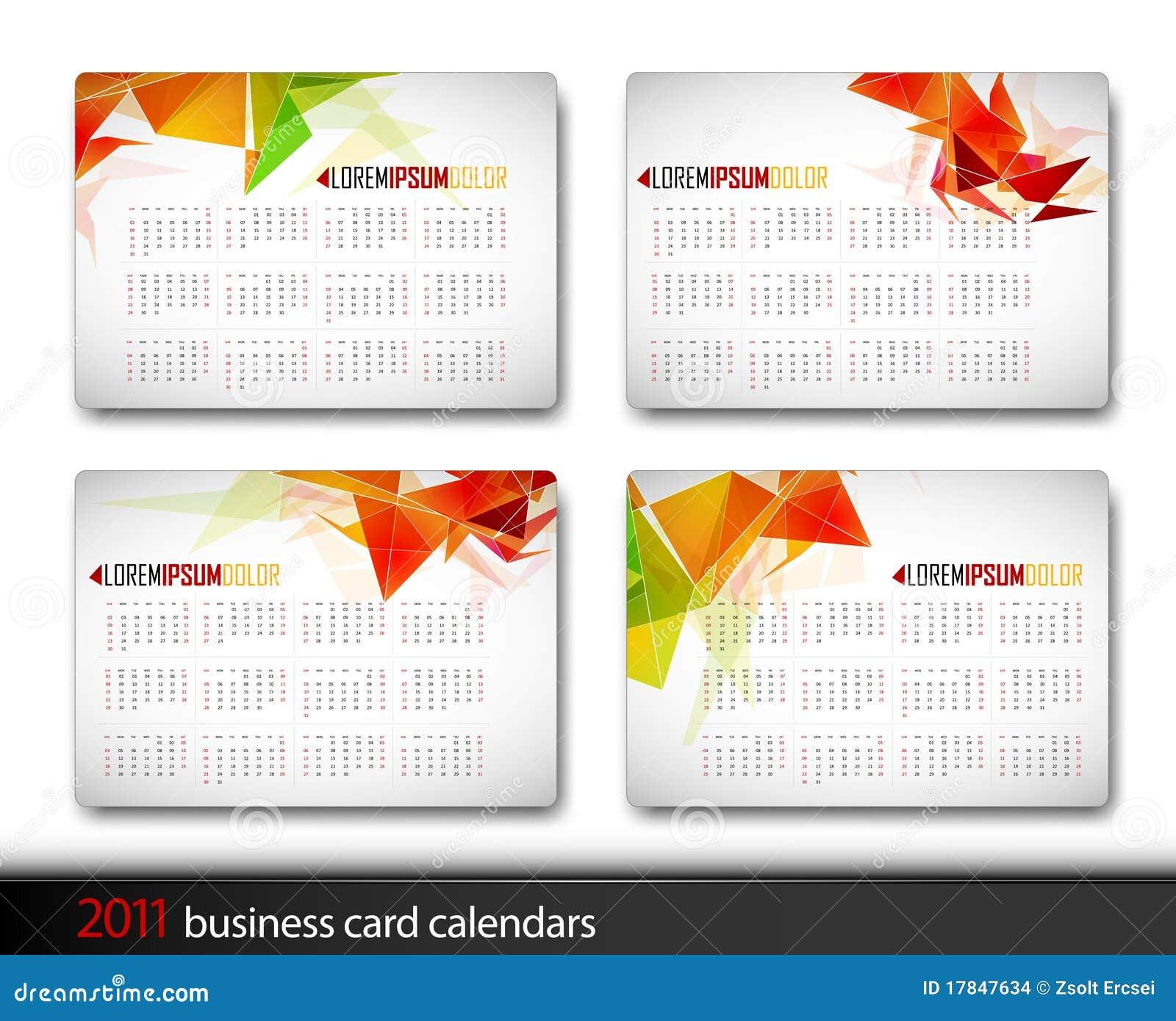 2011 Calendar Template Stock Images - Image: 17847634