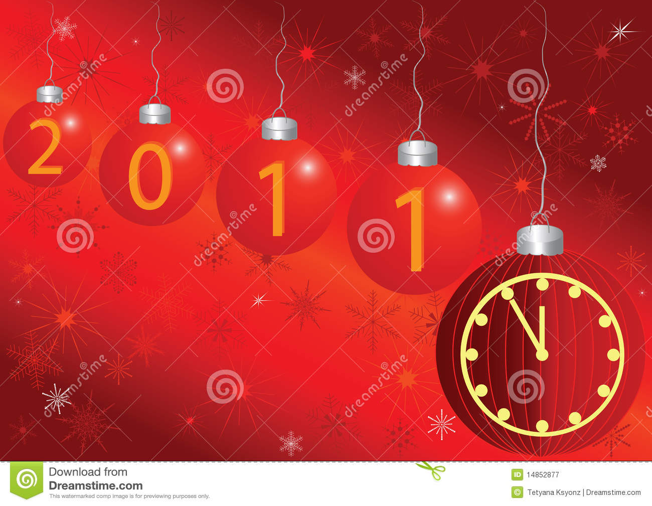 2011 card with a clock