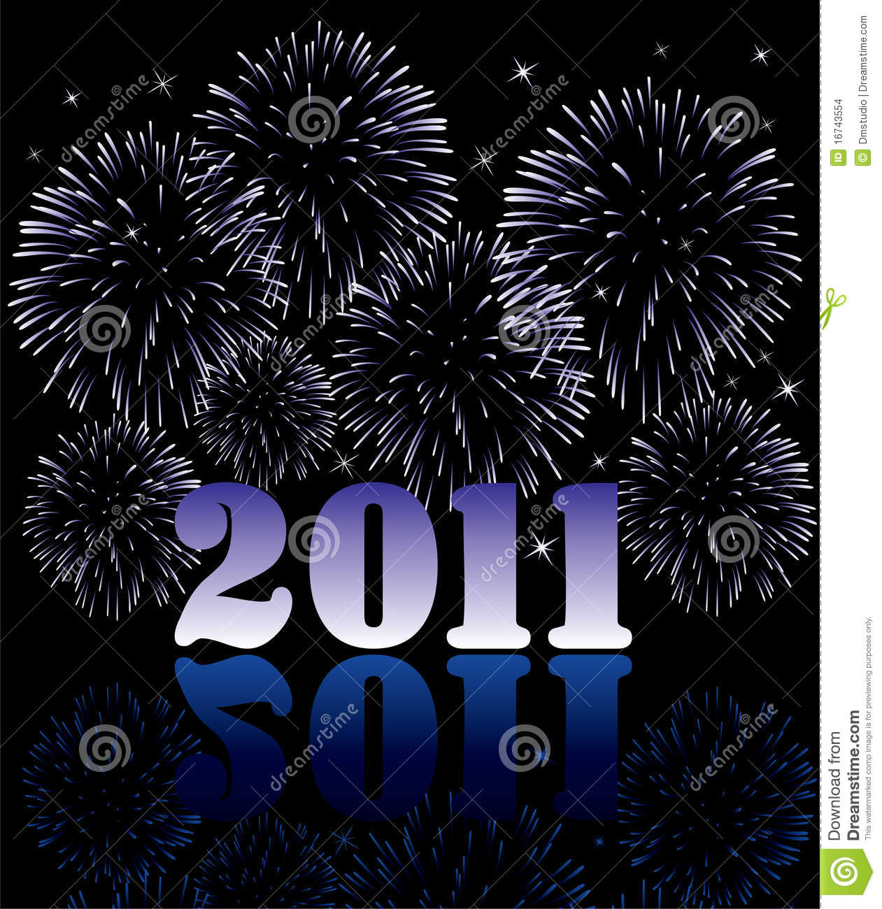 2011 numbers with fireworks