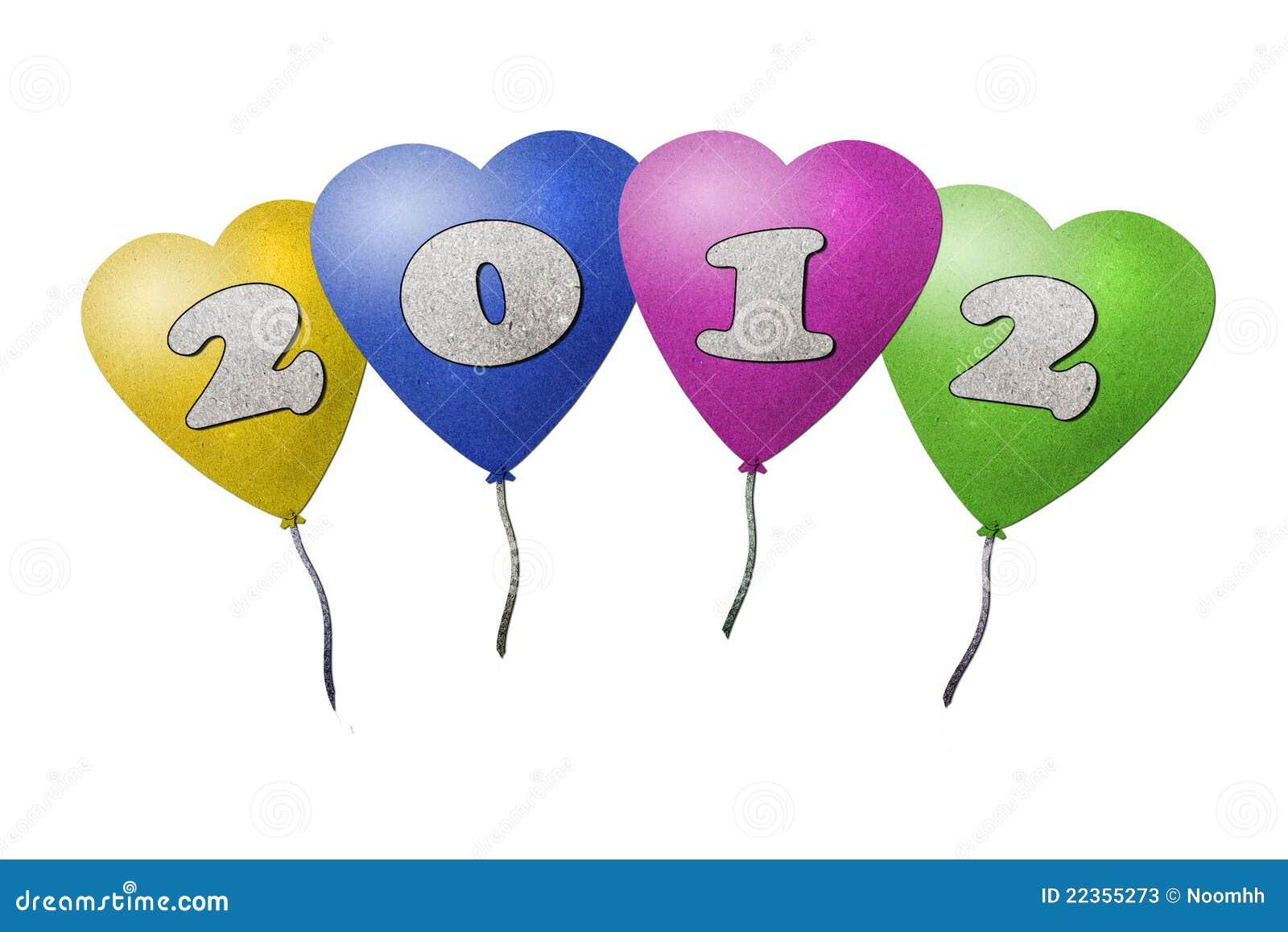 2012个气球新年度