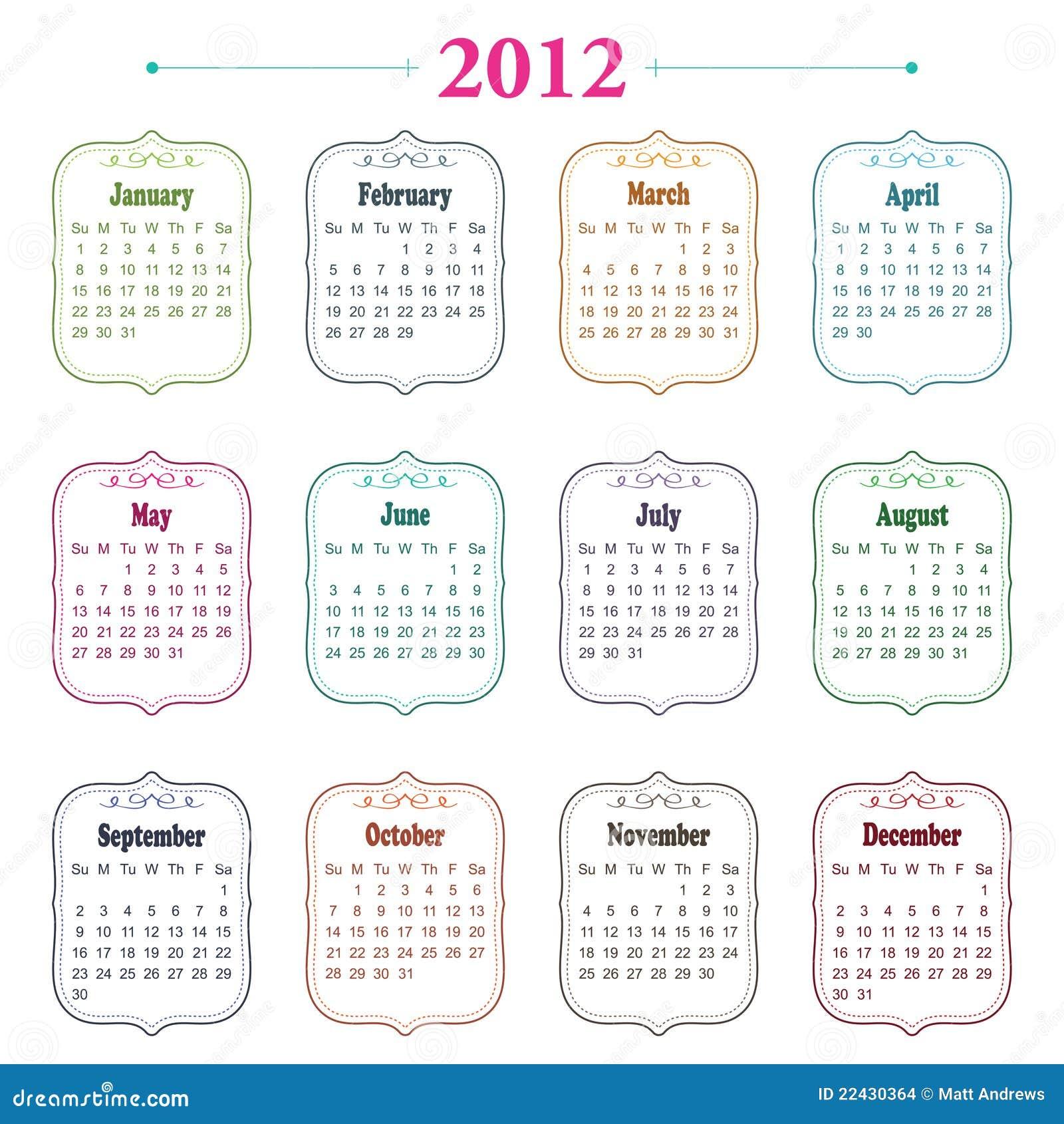 2012日历
