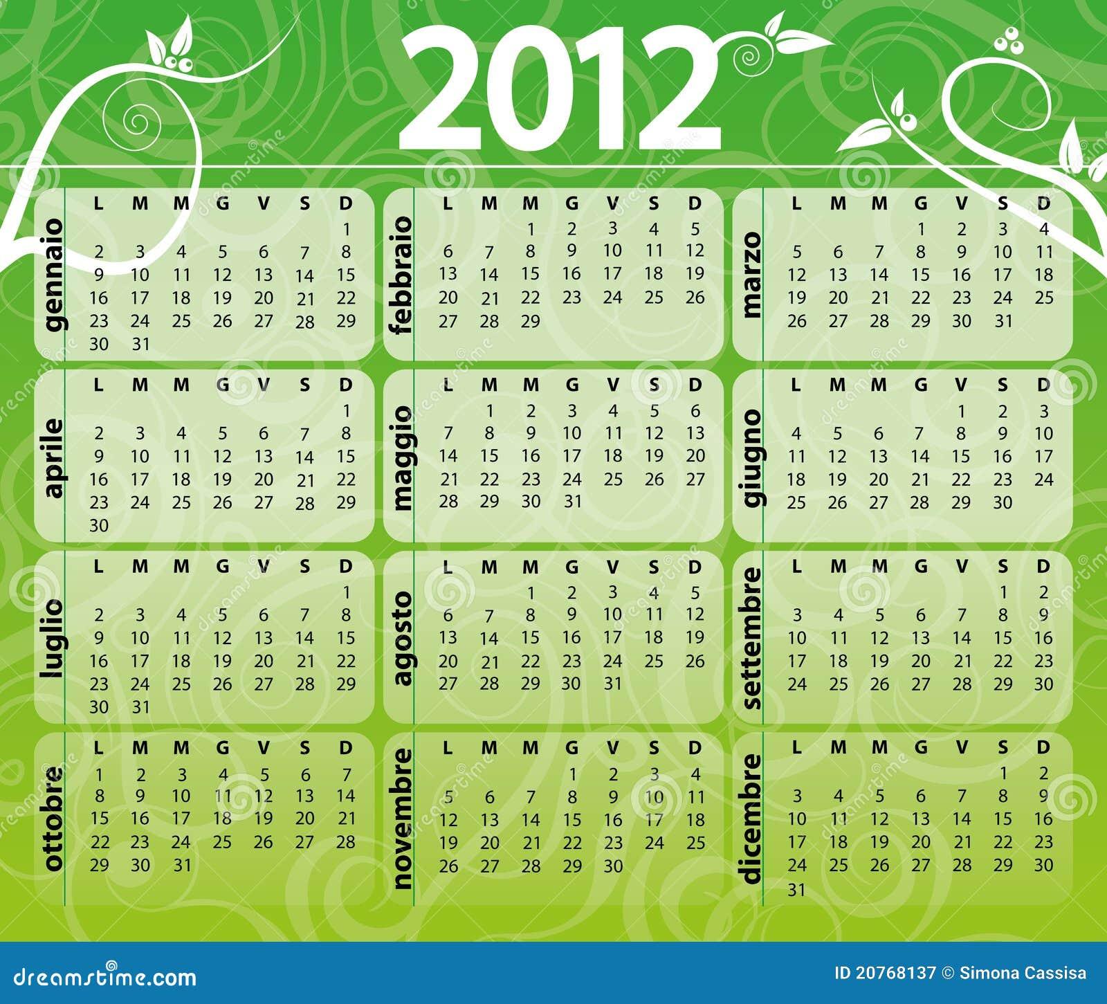 Calendar Green : Green calendar royalty free stock photography image