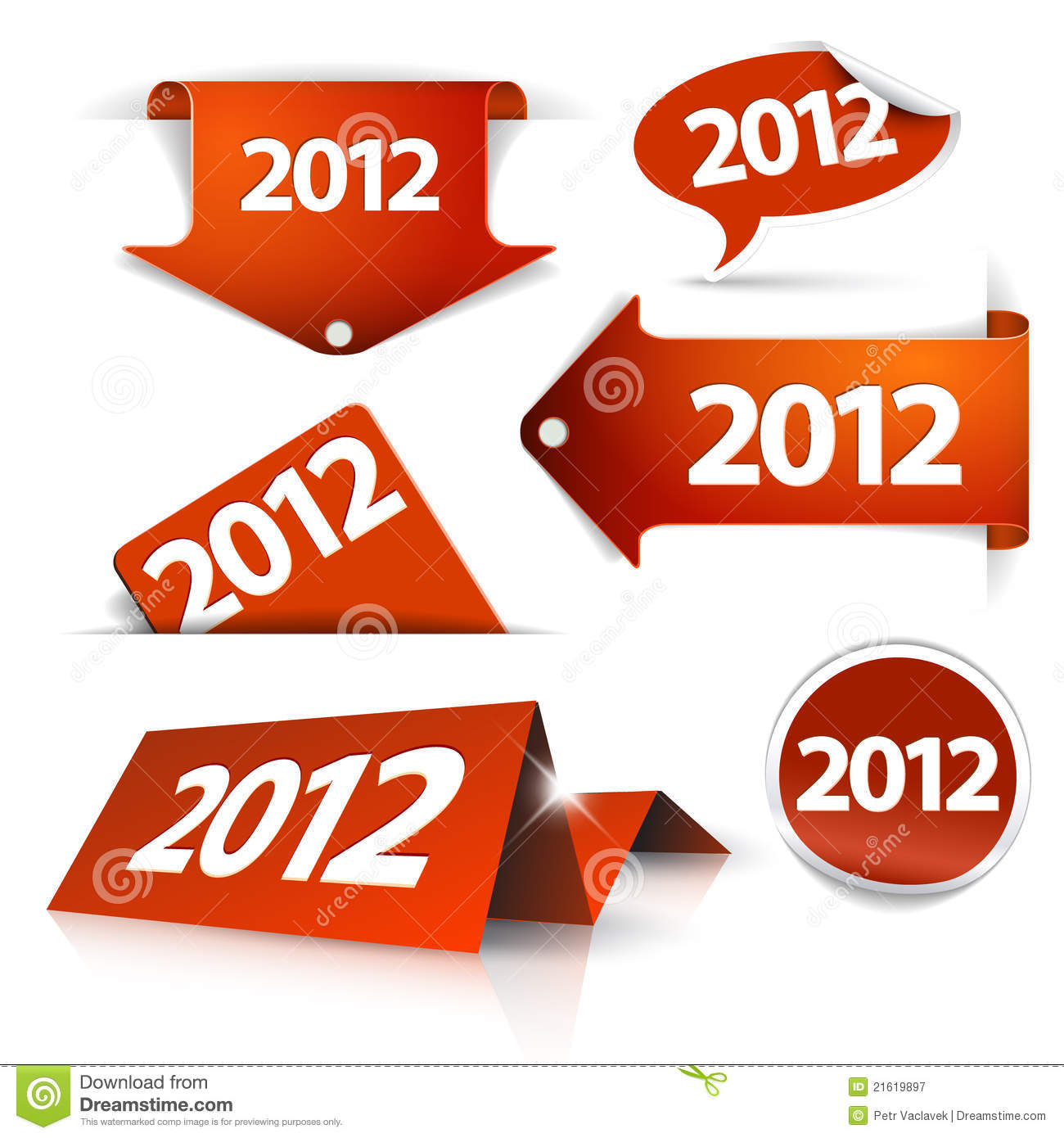 2012 Labels, stickers, pointers, tags