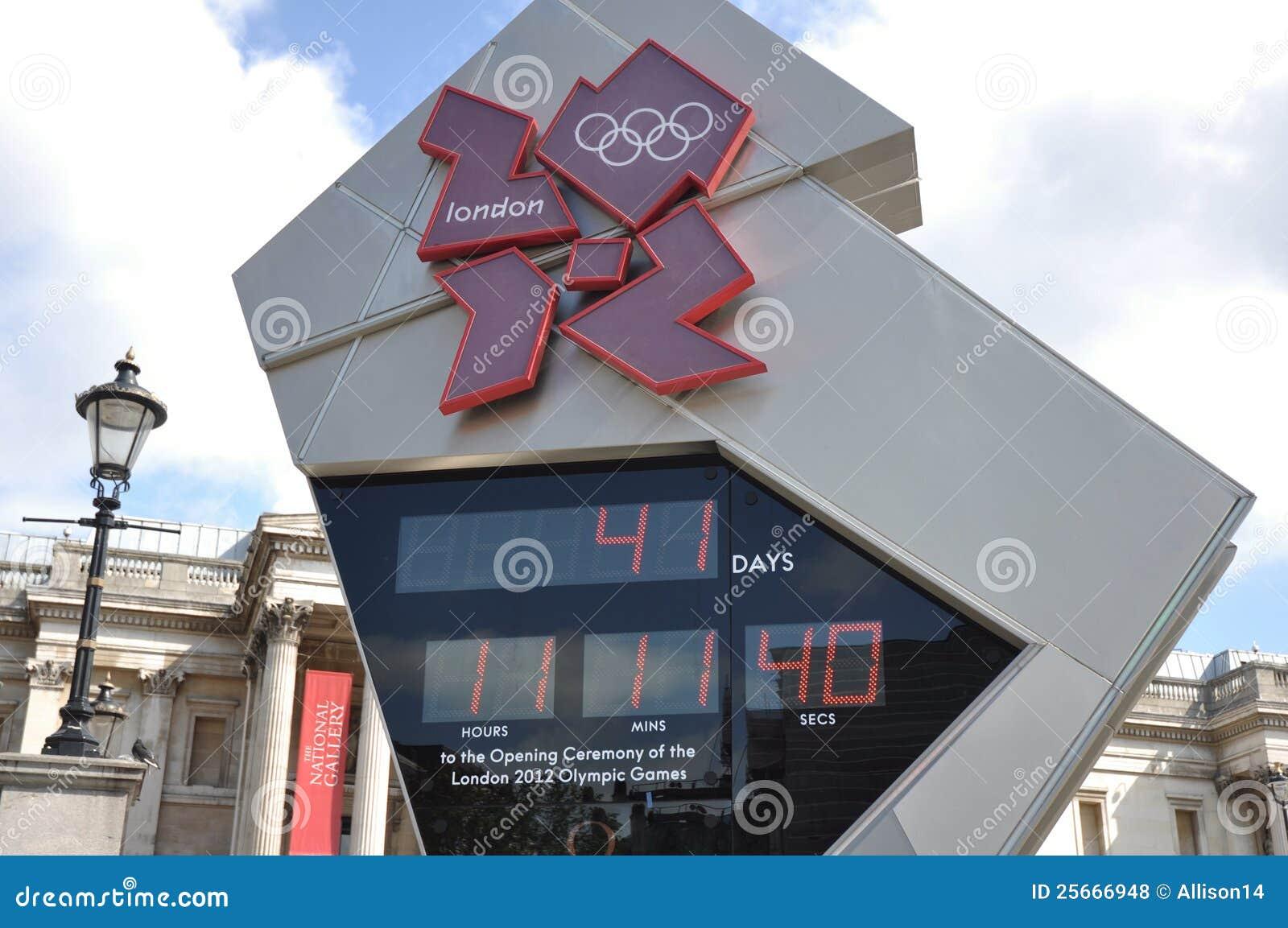 2012 Olympics van Londen de Klok van de Aftelprocedure