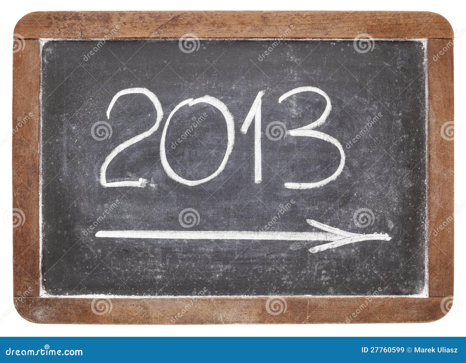 2013 ans sur le tableau noir