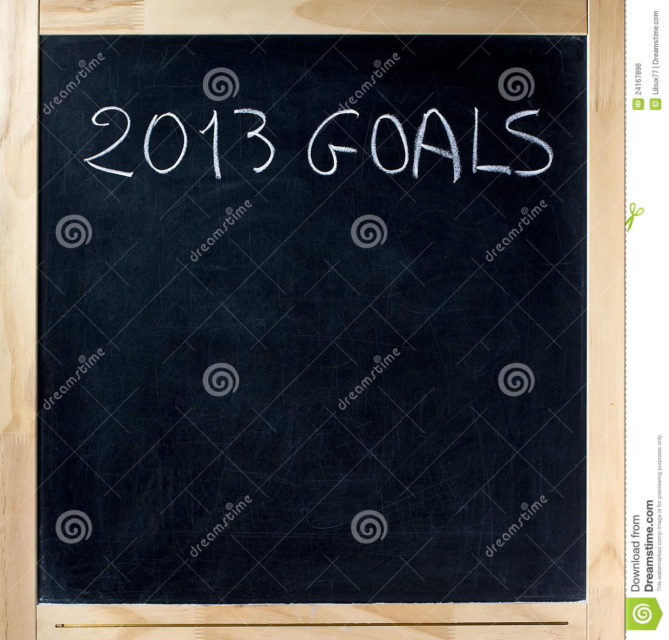 2013 Goals Title On Chalkboard