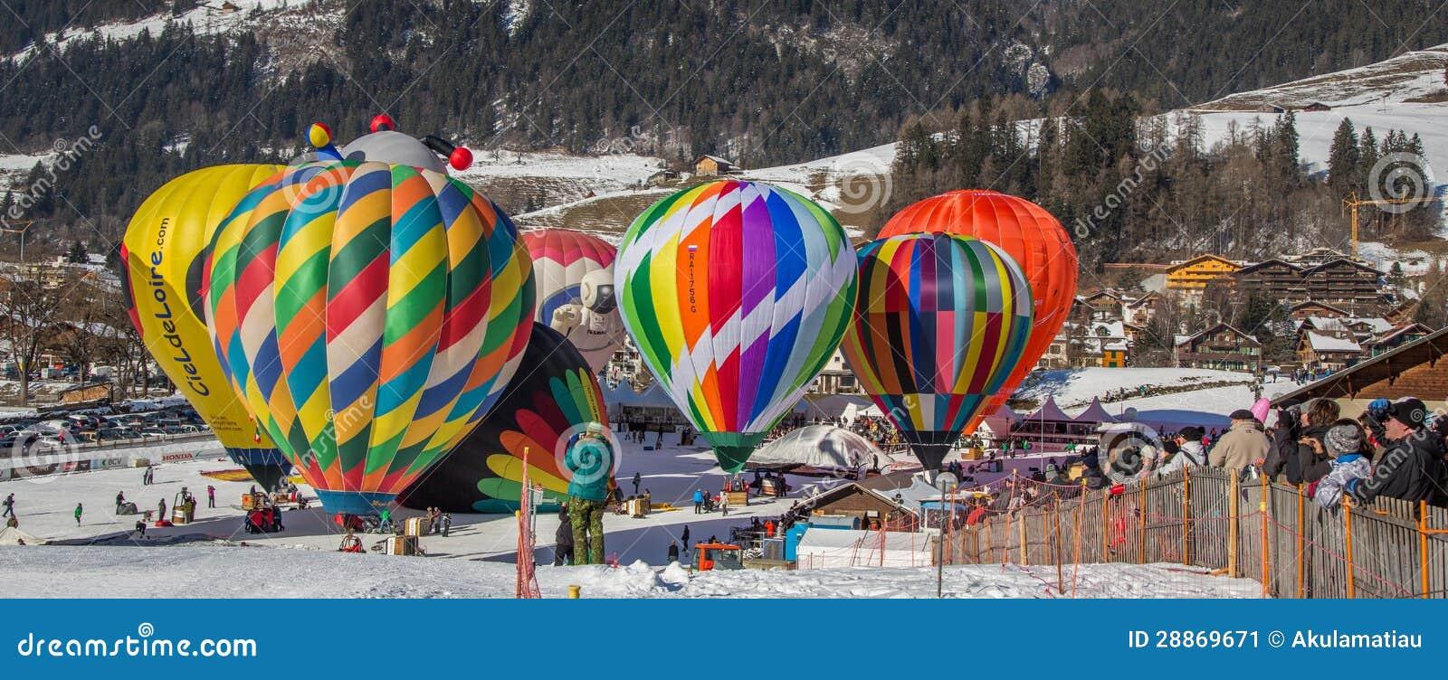 2013 het Festival van de Ballon van de Hete Lucht, Zwitserland