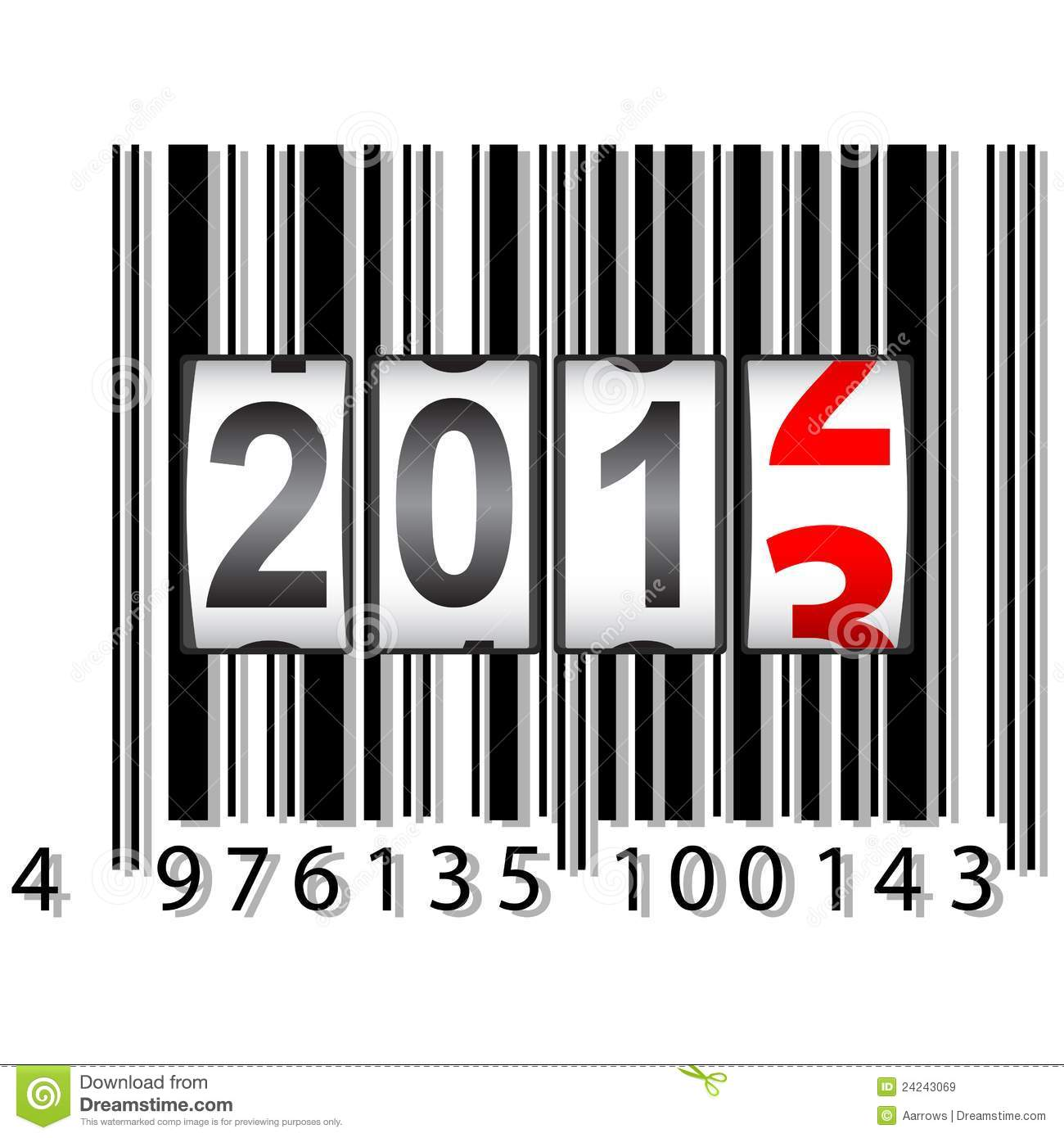 2013 New Year counter, barcode