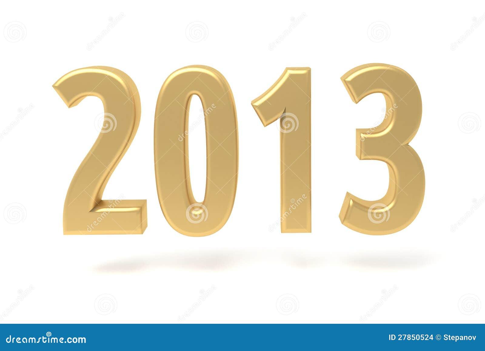 2013 Nowy Rok złota znak