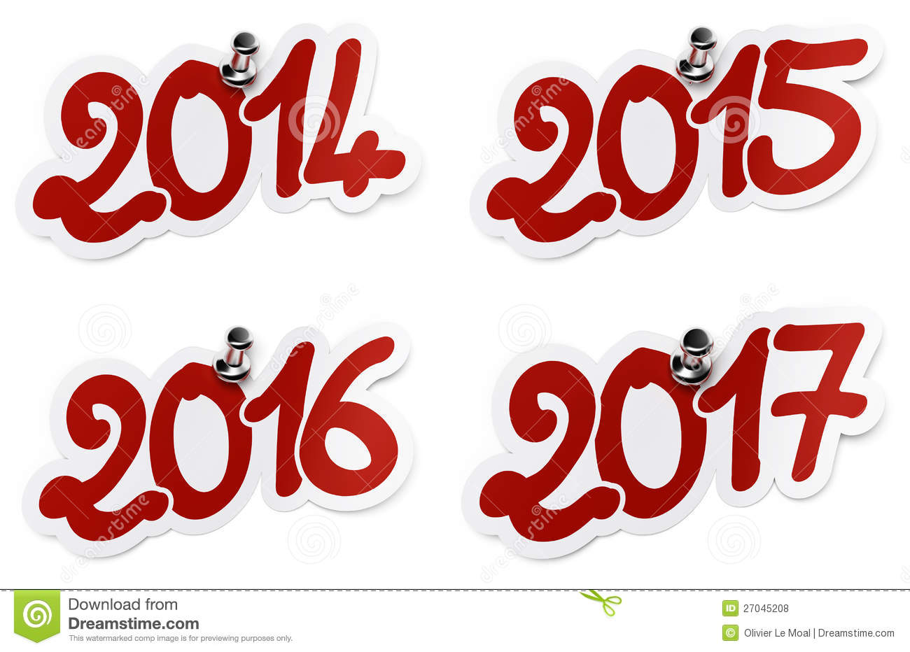 2014, 2015, 2016, 2017 Year Stickers Royalty Free Stock Photos - Image ...