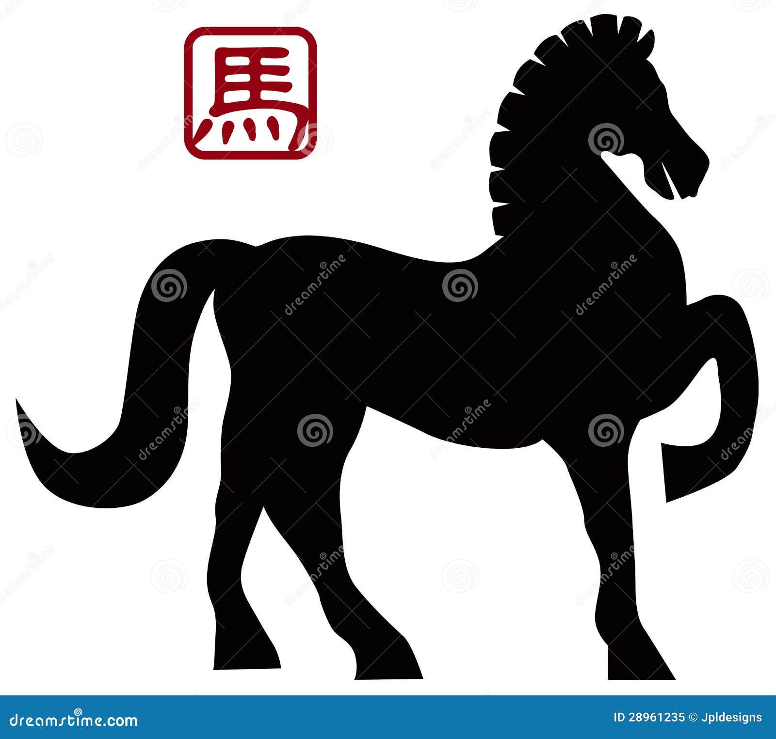 2014 Chińskiego konia Przednich poz Illusrtation