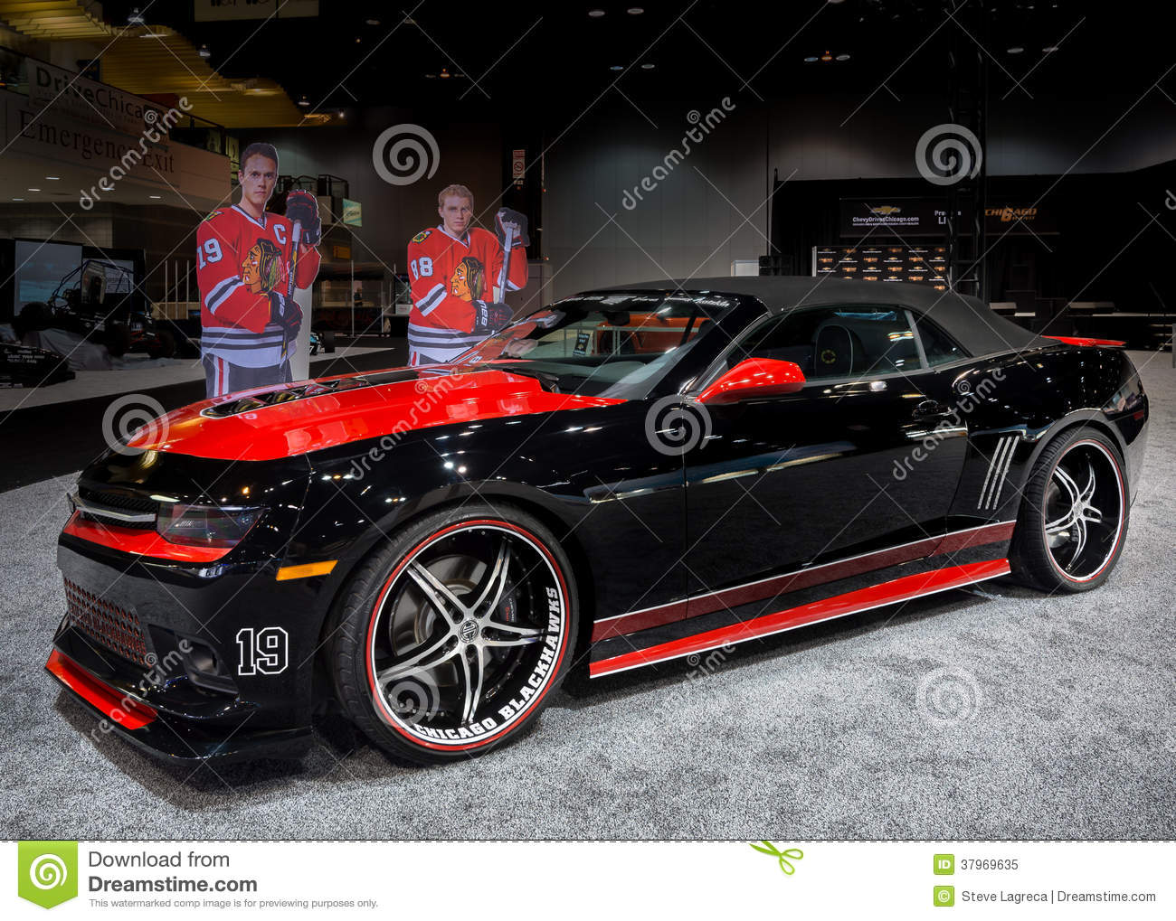 Blackhawks Car Chicago Auto Show