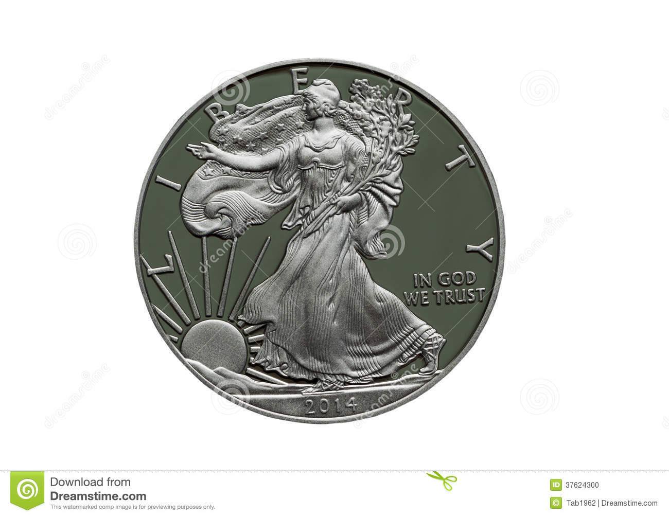 2014 Proof United States of America Silver Dollar