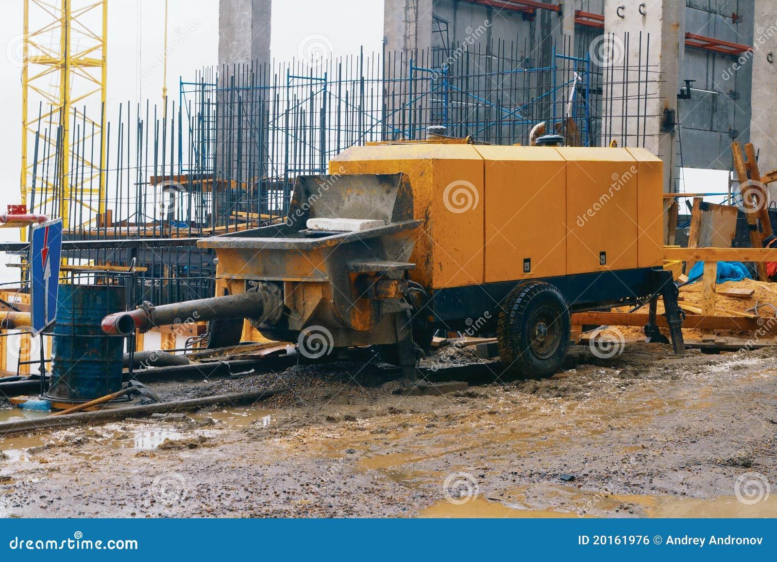Concrete Pumping Station : Concrete pump royalty free stock image