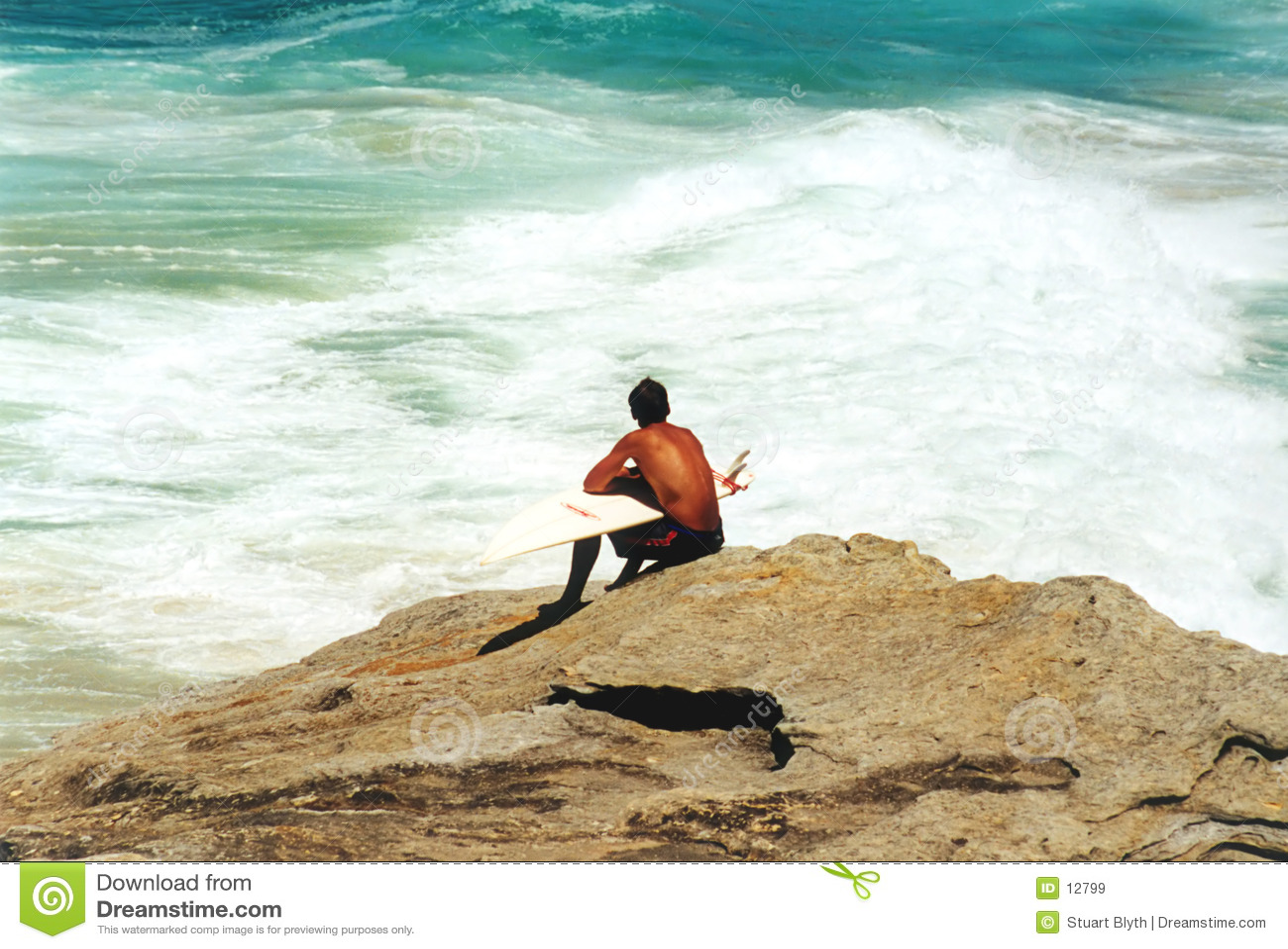 冲浪者等待