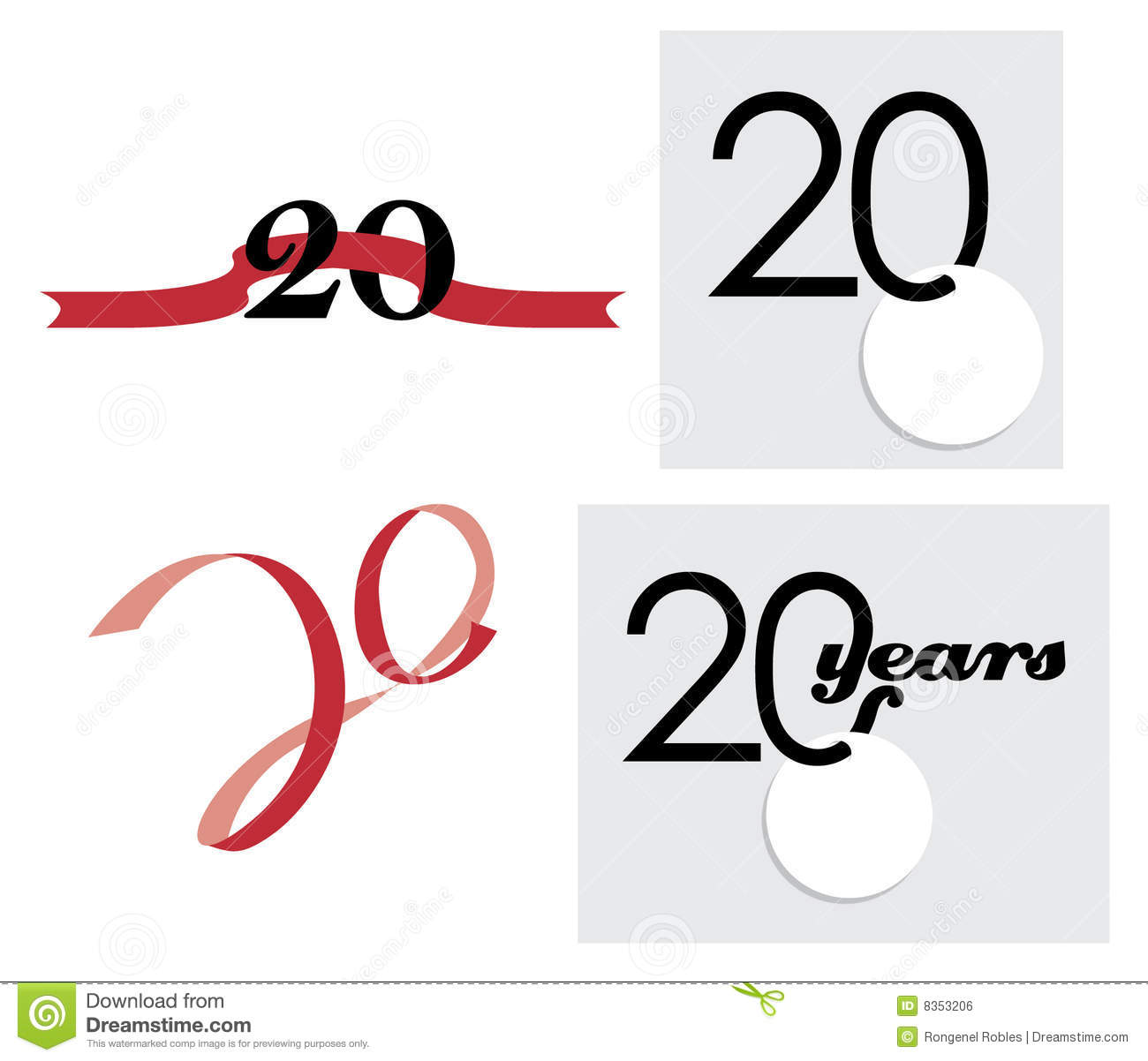 20th Anniversary Celebration Royalty Free Stock Image - Image: 8353206