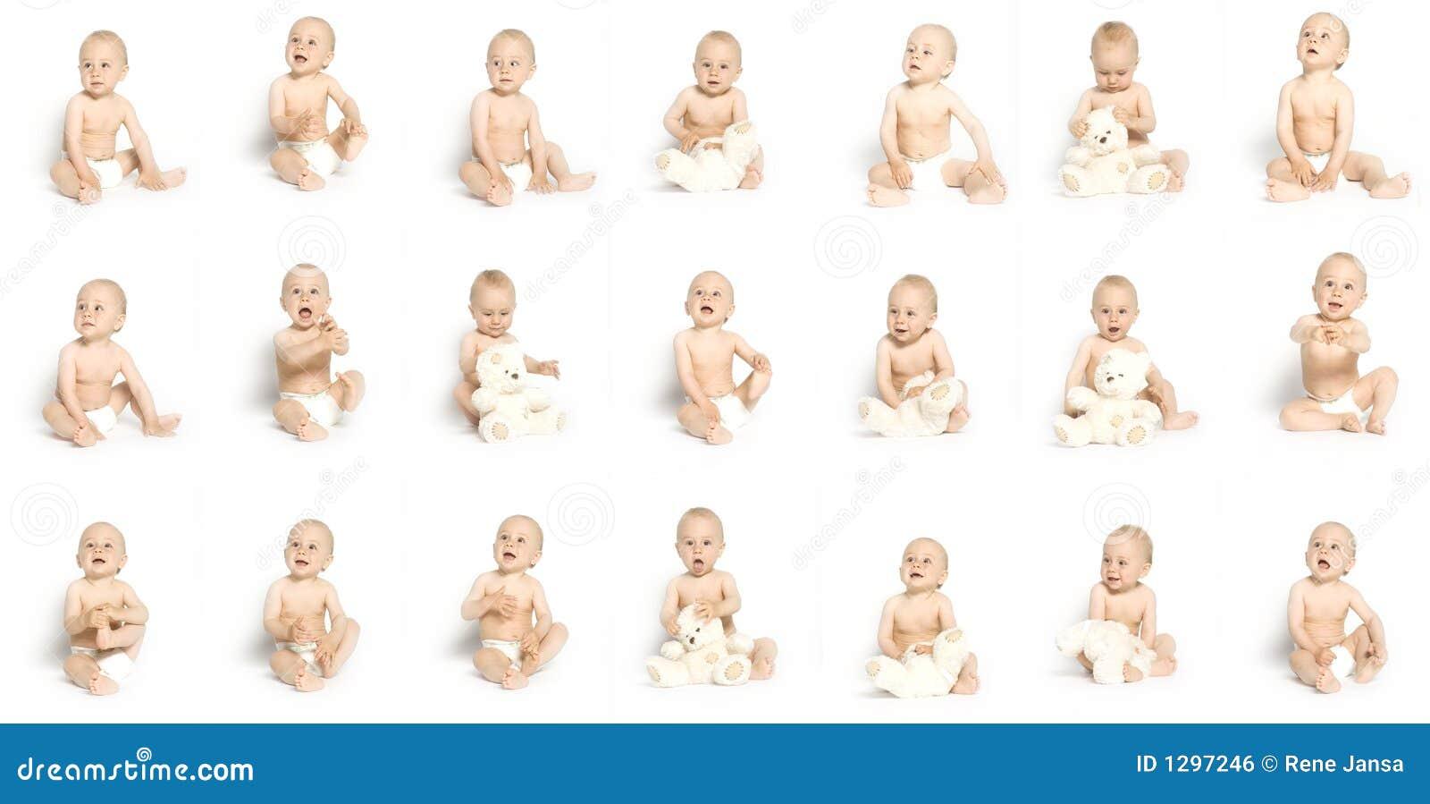 21 faces of boy