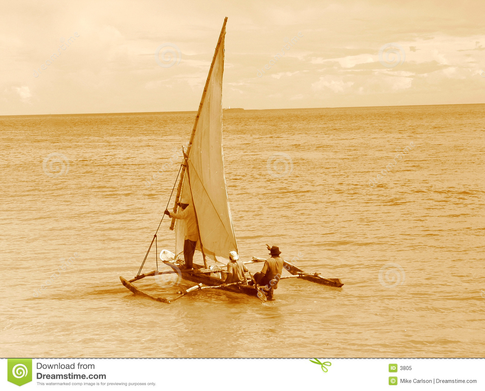 单桅三角帆船老航行样式