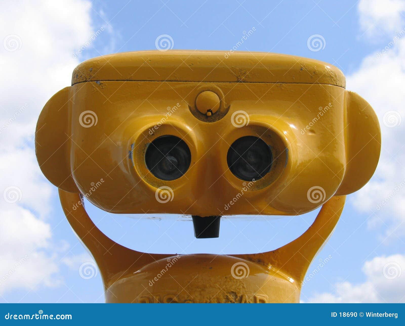 双筒望远镜ii黄色