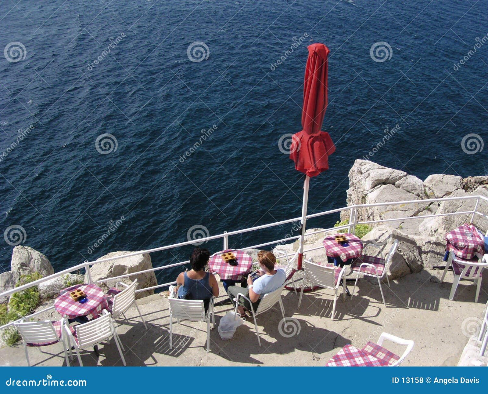 咖啡馆克罗地亚边缘