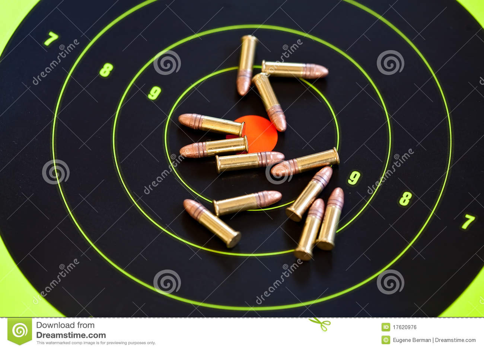 Royalty Free Stock Image: .22 LR caliber ammo