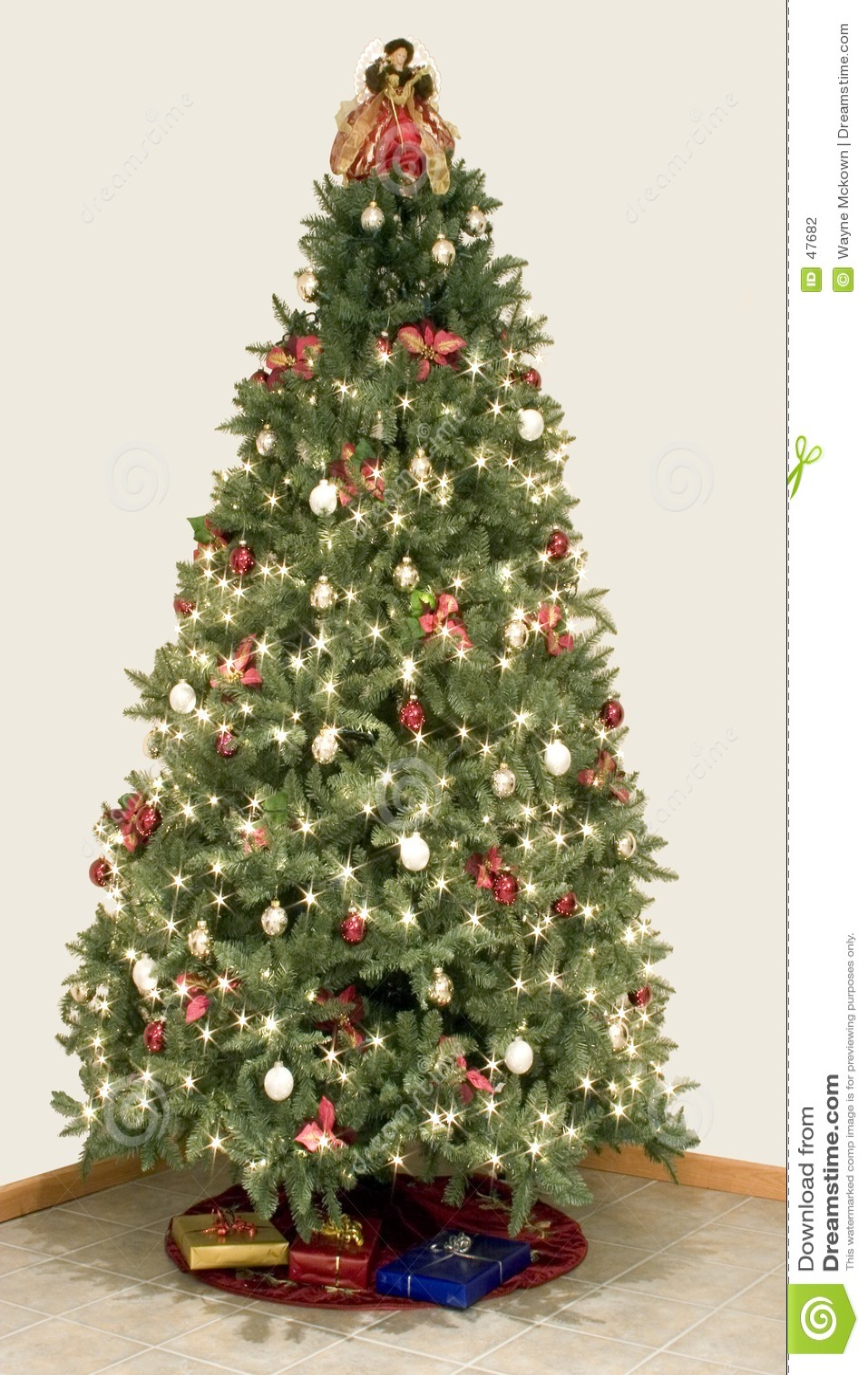 圣诞节作用星形结构树