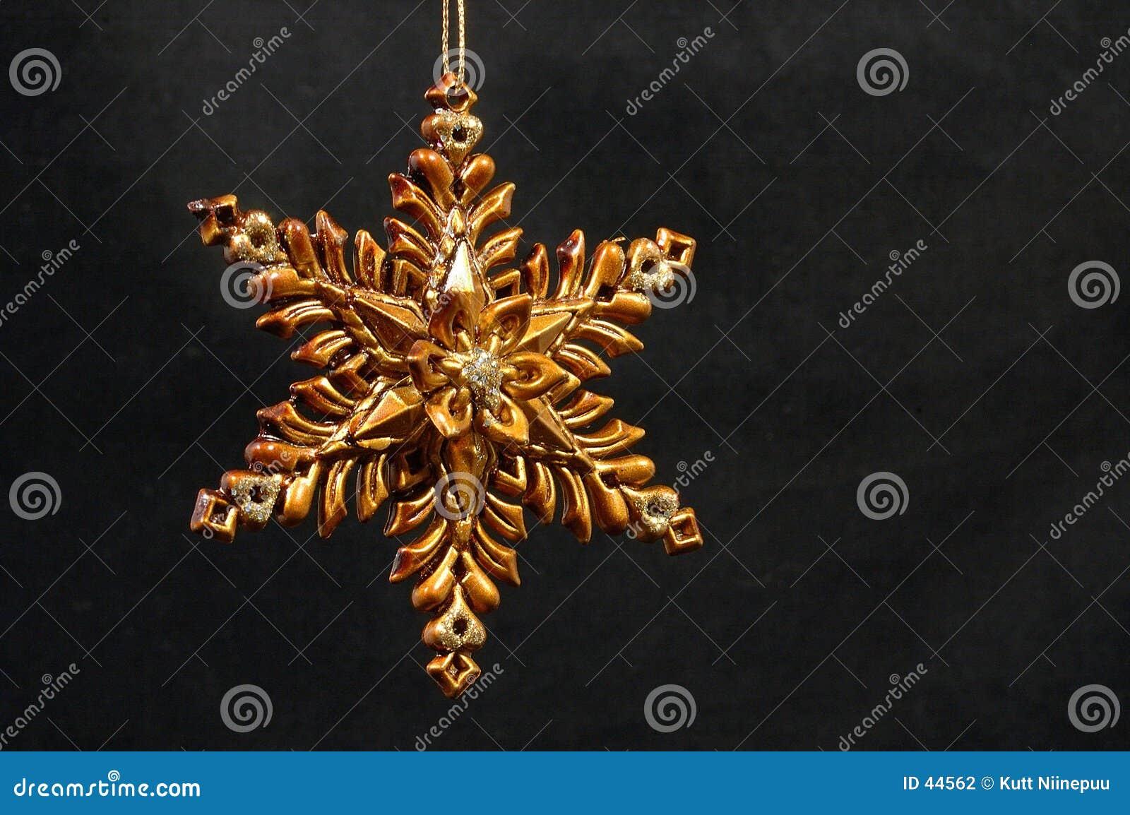 圣诞节金黄装饰品星形
