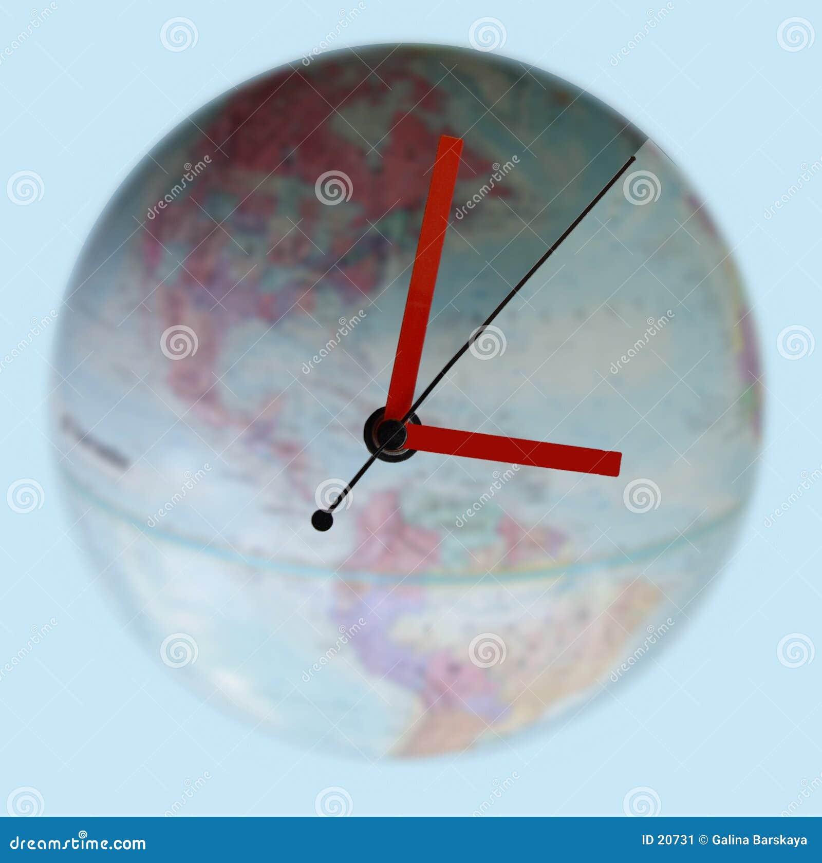 在时钟附近