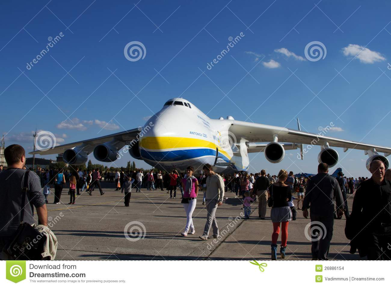 Kyiv ukraine september 29 world biggest plane antonov an 225 mriya