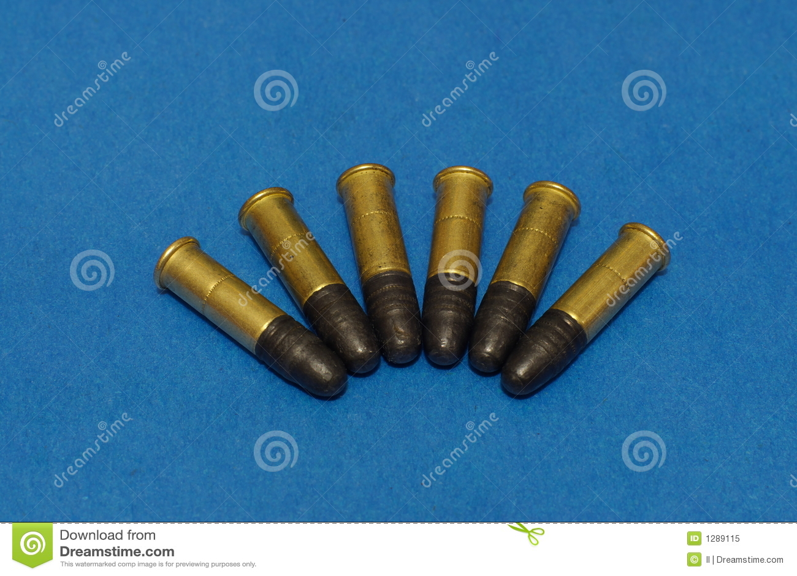 22lr ammunition stock image image of blue shooting 1289115