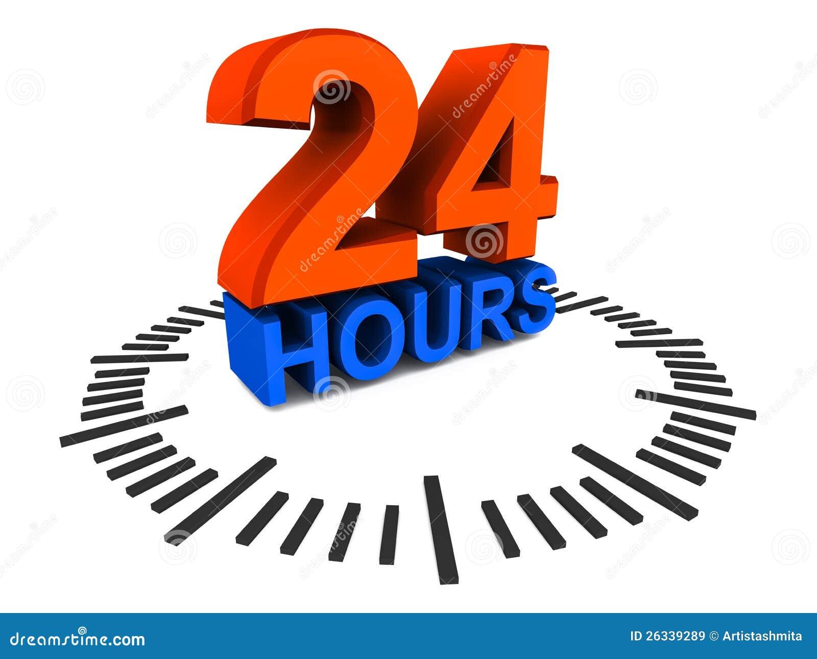 24 horas de disponibilidad stock de ilustraci n imagen de horas 26339289. Black Bedroom Furniture Sets. Home Design Ideas