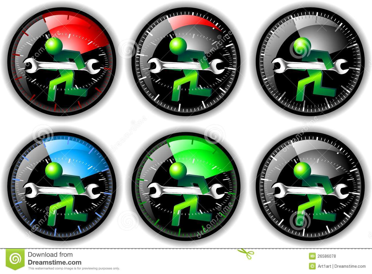24 Hour Maintenance Logo Set Stock Illustration - Image ...