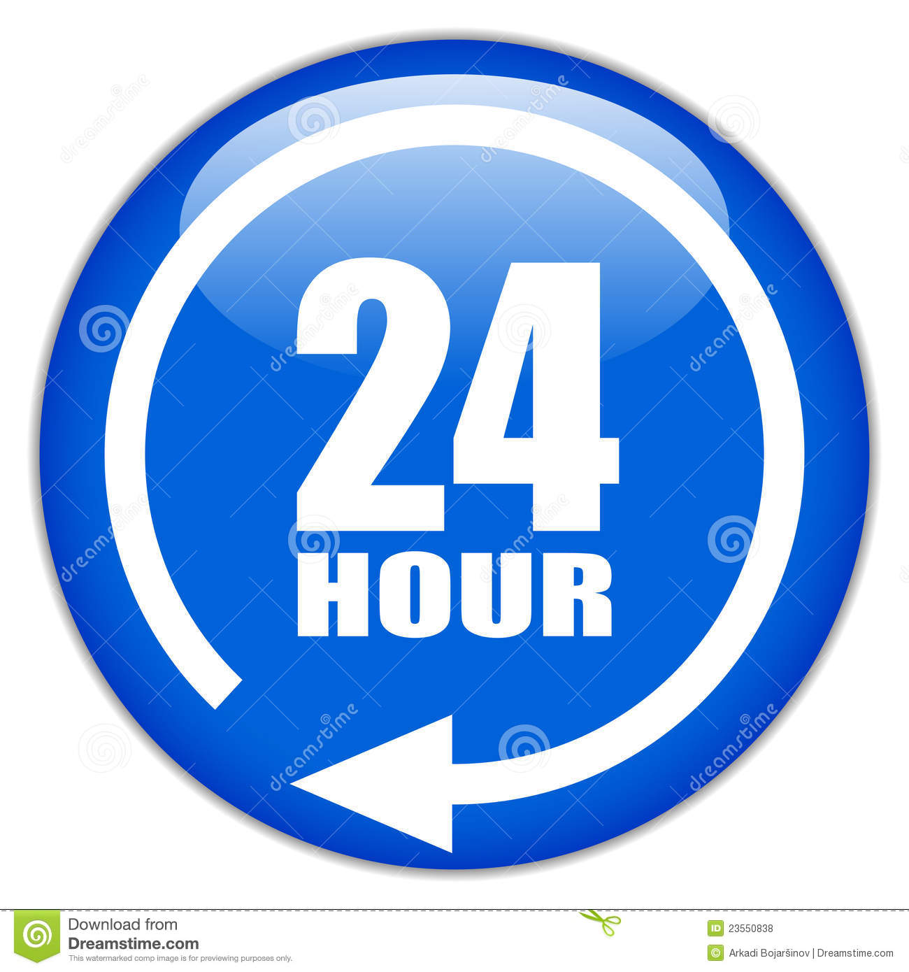 24 Hour Sign Royalty Free Stock Photos Image 23550838