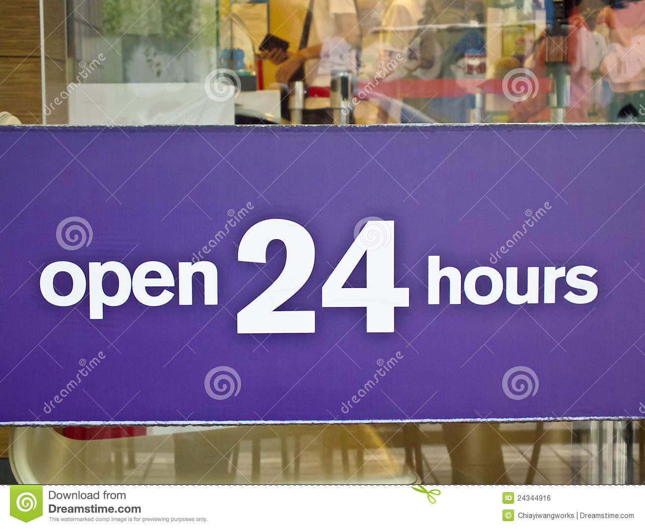 Clothing stores. Clothing stores open 24 hours
