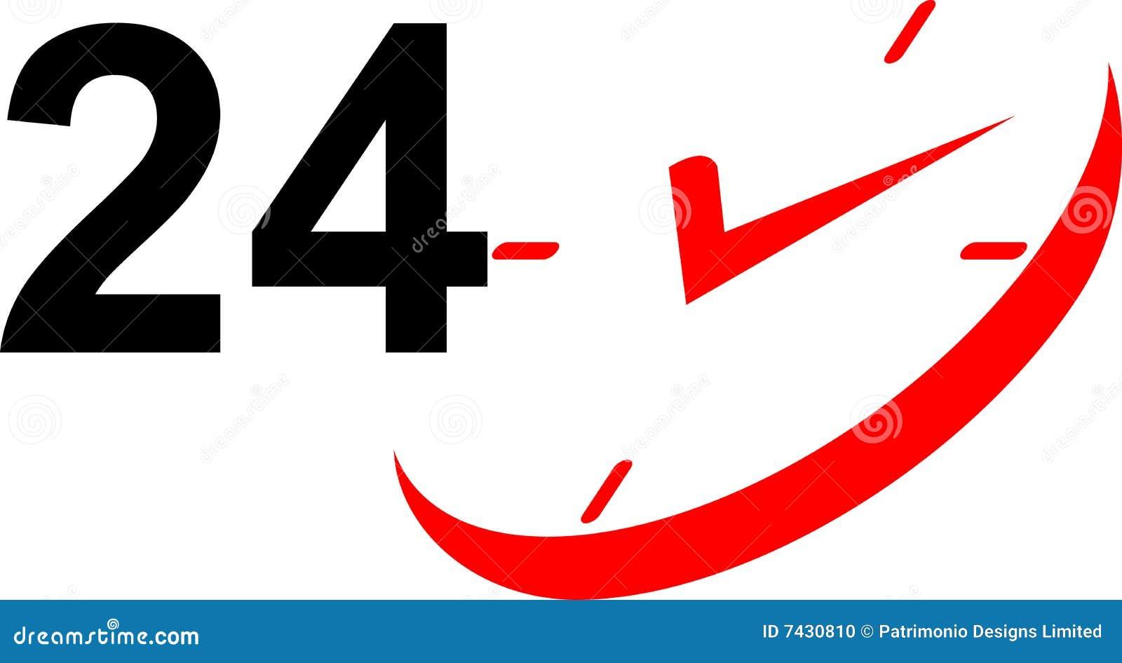 24 iconos del reloj de la hora foto de archivo imagen 7430810. Black Bedroom Furniture Sets. Home Design Ideas