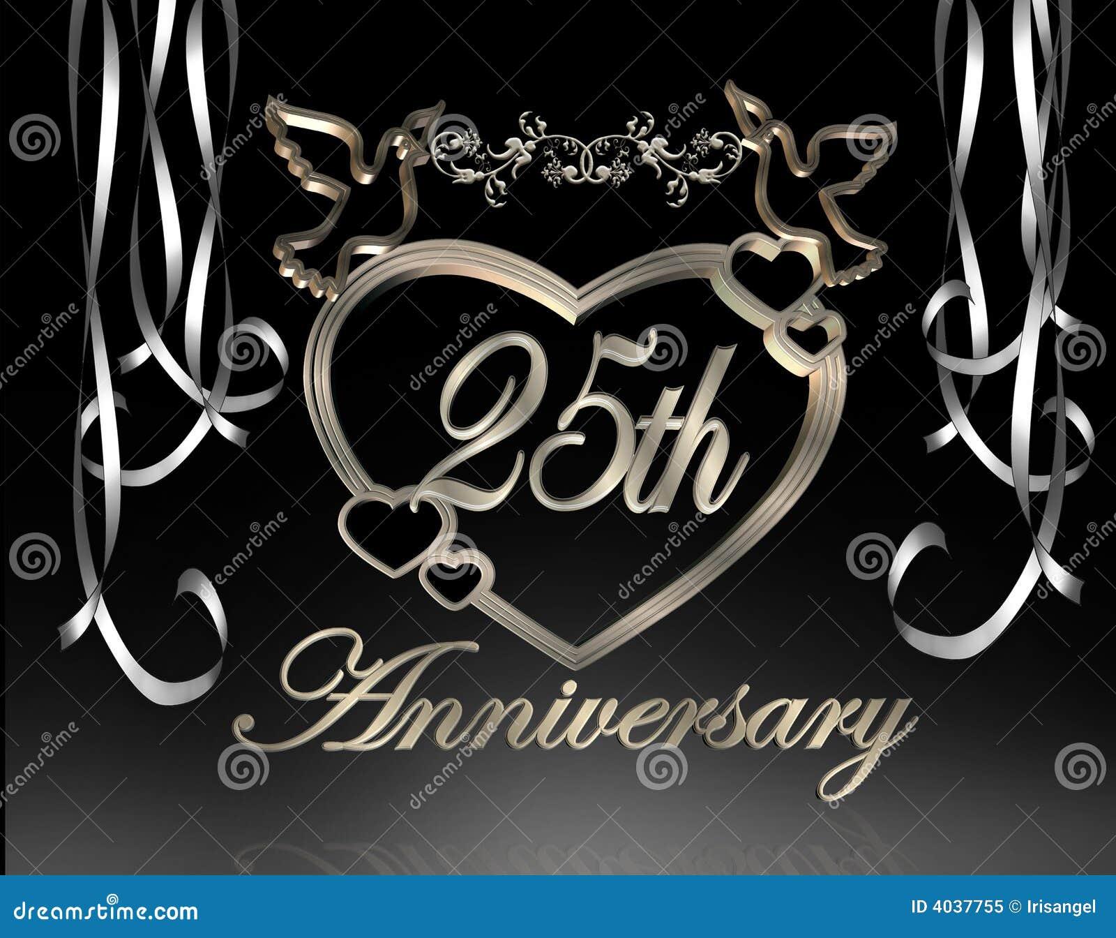 25 me anniversaire de mariage illustration stock